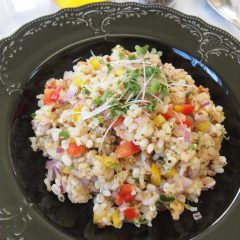 Brownr rice salad