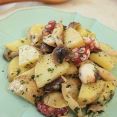 Potato & Octopus Basil Stir friy